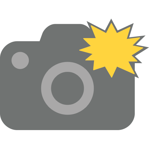 Camera With Flash Emoji For Facebook, Email Sms Id