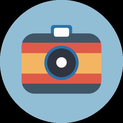 Mixed Camera Flat Icon
