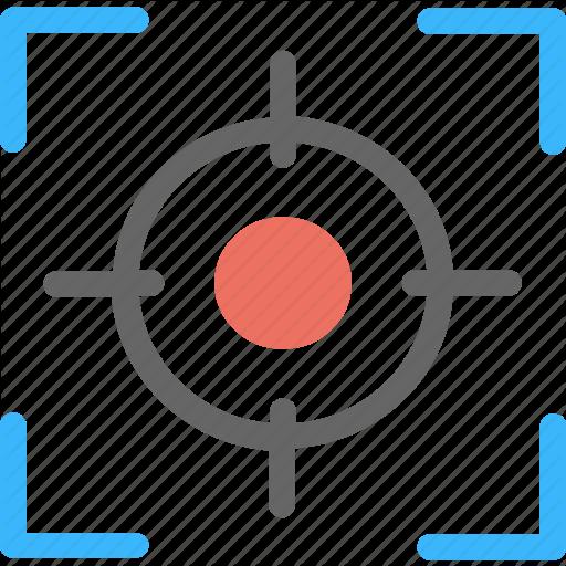 Camera Focus, Focusing, Recording, Target Point, Viewfinder Icon