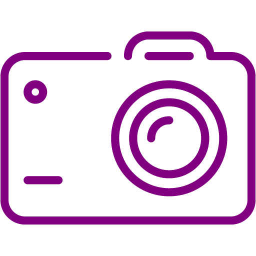 Purple Camera Icon