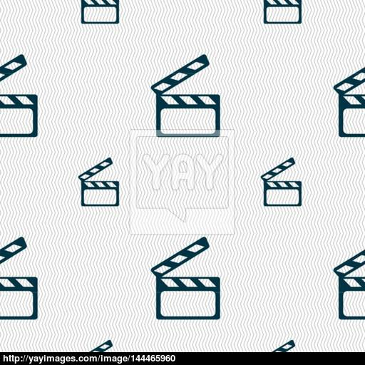 Cinema Clapper Sign Icon Video Camera Symbol Seamless Pattern