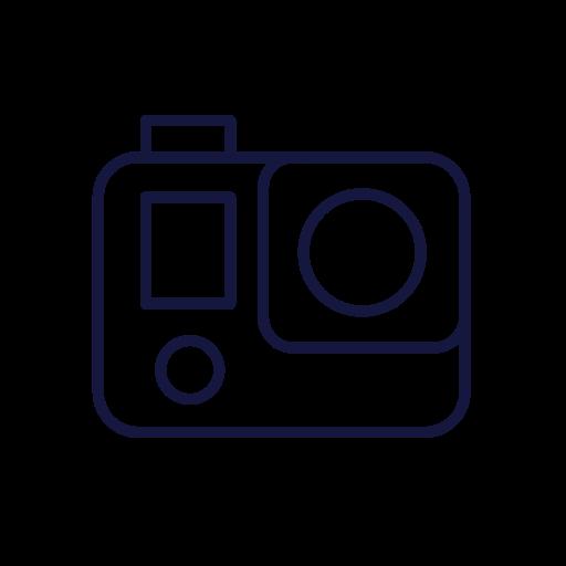 Gopro, Camera Icon Free Of Travel Icons Line To Awaken Your