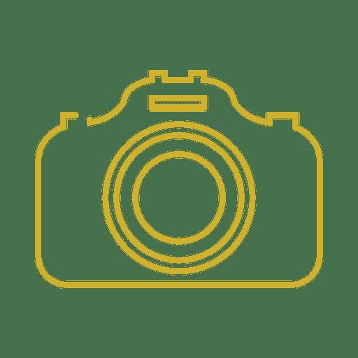Yellow Camera Line Icon