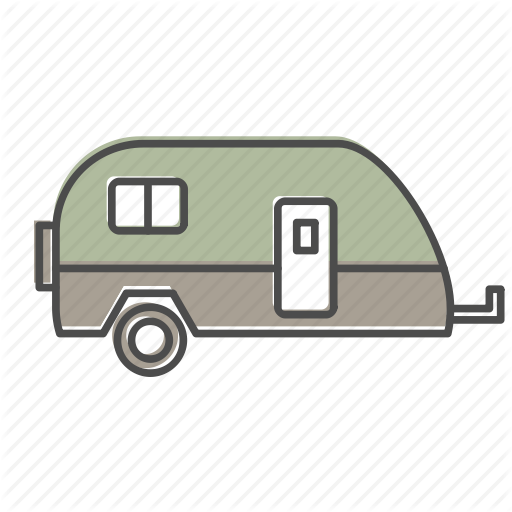 Camper, Camping, Hiking, Nature, Outdoors, Recreation, Trailer Icon