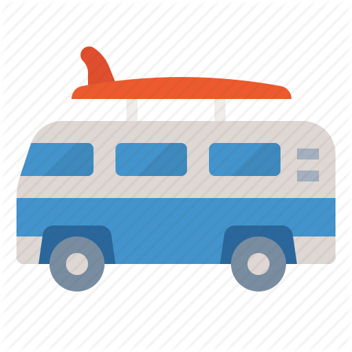 Camper, Caravan, Travel, Van Icon