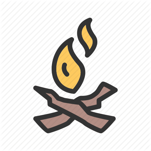 Beach, Bonfire, C Campfire, Fire, Night, Wood Icon