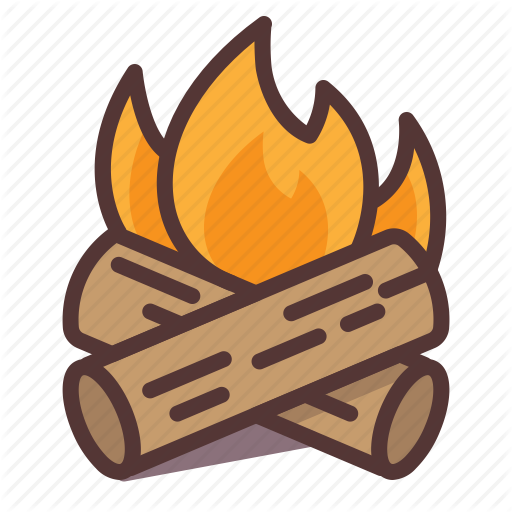 Burning, C Campfire, Camping, Fire, Hot, Log Icon