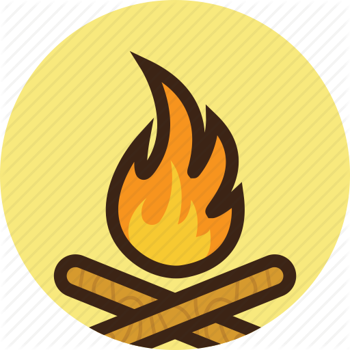 C Campfire, Camping, Fire, Flame, Forest, Wood Icon