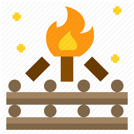 C Campfire, Fire, Night, Wood Icon