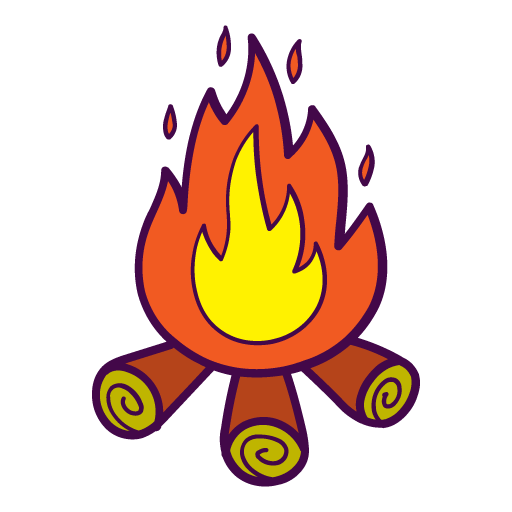 Campfire Icon Free Of Autumn Hand Drawn