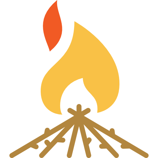Flame, Nature, Camping Icon