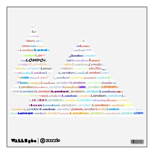 London Text Design Ii Wall Decal Camping Icon Text