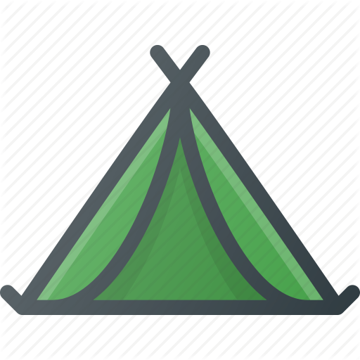 C Camping, Tent, Tourism, Travel Icon
