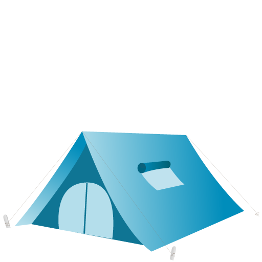 Tent Icon Summer Blue Iconset Dapino