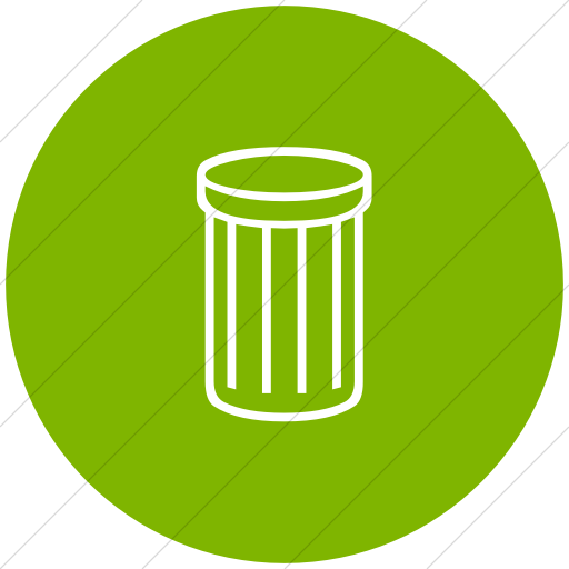 Flat Circle White On Green Classica Thin Striped Trash