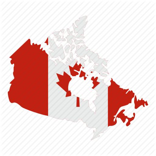 America, Canada, Flag, Geography, Map, National, North Icon