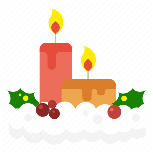 Candle, Christmas, Decoration, Light, Snow Candle Icon