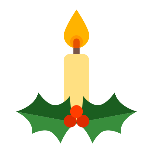 Christmas, Candle Icon Free Of Winter Holiday