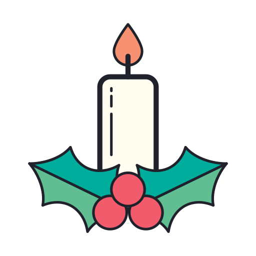 Christmas, Candle Icon Free Of Merry Holidays