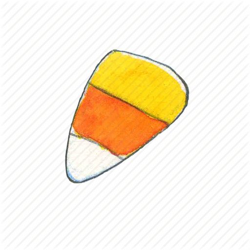 Candy, Candy Corn, Corn, Halloween, Sweet, Treat, Trick Or Treat Icon