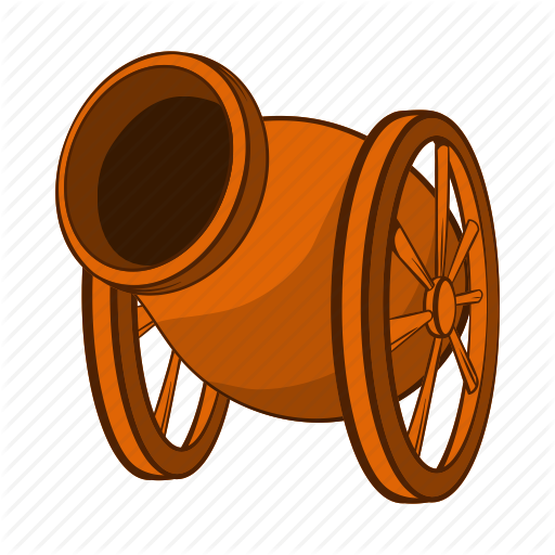 Artillery, Cannon, Cartoon, Gun, Medieval, War, Weapon Icon