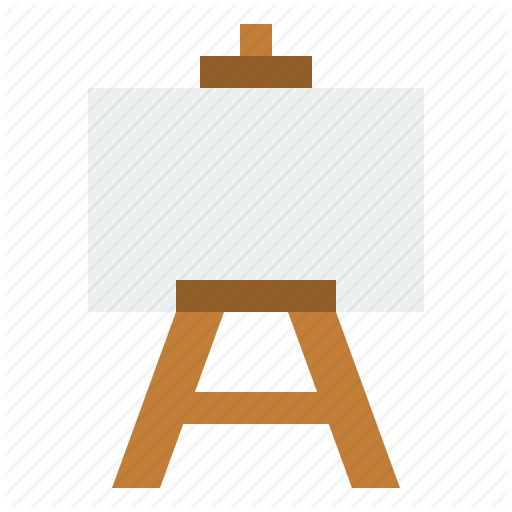 Art, Art Canvas, Canvas, Drawing, Education, School, Stand Icon