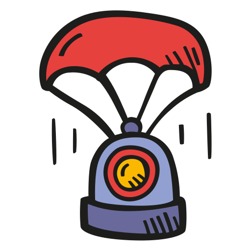 Landing, Space, Capsule Icon Free Of Space Hand Drawn Color Sticker