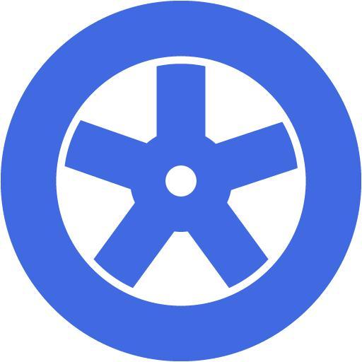 Royal Blue Wheel Icon