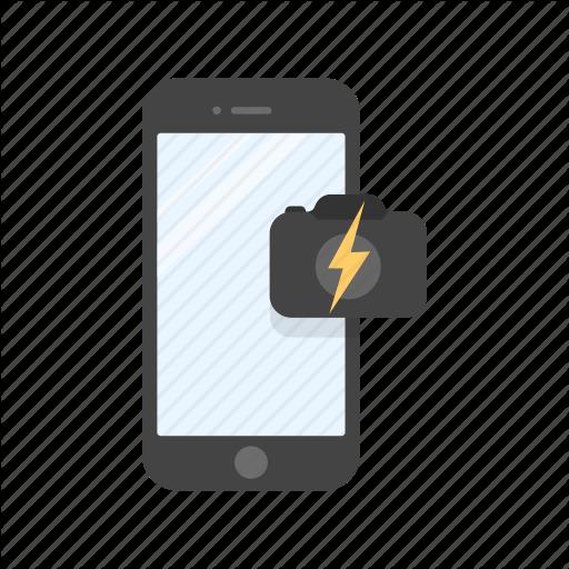 Camera Flash, Capture, Flash, Mobile Camera Icon