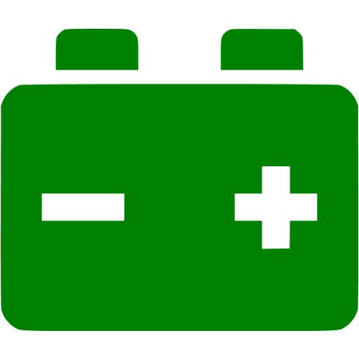 Green Car Battery Icon