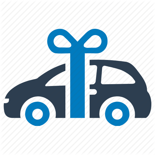 Car Gift, Gift Car, New Car, New Car Gift, Vehicle Icon