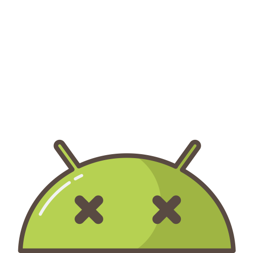 Crash, Mobile, Bug, Emoji, Mood, Dead, Android Icon