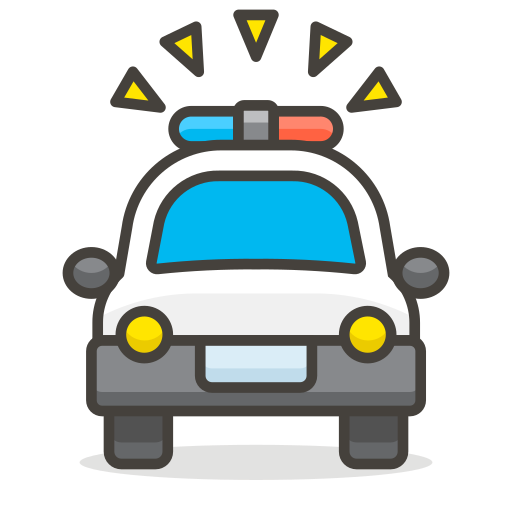 Oncoming, Police, Car Icon Free Of Free Vector Emoji