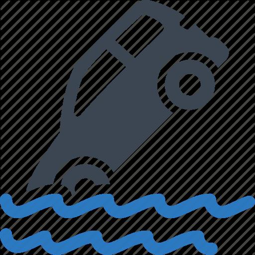 Auto Insurance, Car Insurance, Flood Insurance Icon