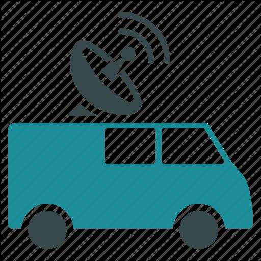 Car, Control, Distance, Internet, Online, Radio, Vehicle Icon