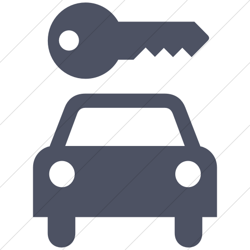 Simple Blue Gray Aiga Car Rental Icon