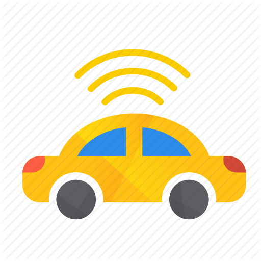 Autonomous, Car, Self Drive, Sensor, Side, Top Icon