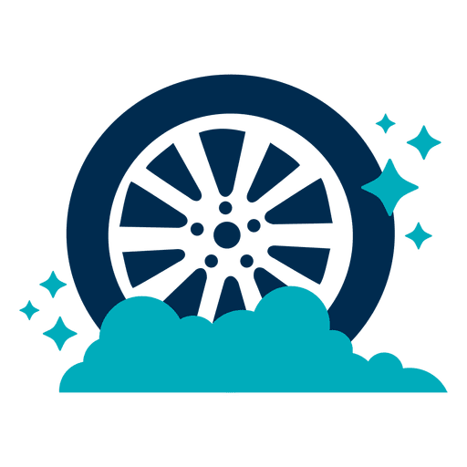Shining Car Tire Icon