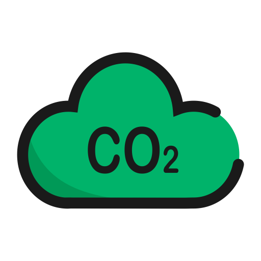 Eryanghuatan, Carbon Dioxide, Carbon Footprint Icon With Png