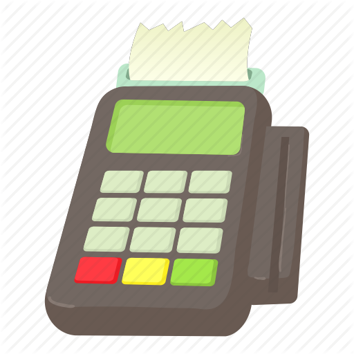 Card, Card Reader, Cartoon, Cashier, Credit, Market, Reader Icon