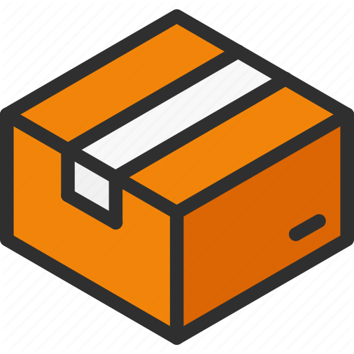 Box, Cardboard, Close, Isometric, Package Icon