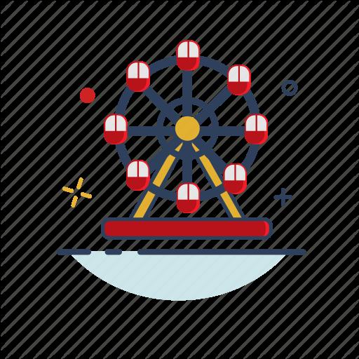 Carnaval, Carnival, Circus, Ferris, Ferris Wheel, Rotation, Show Icon