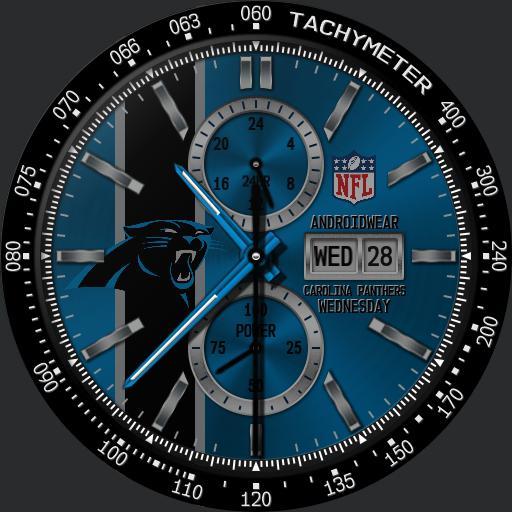 Sports Carolina Panthers Nfl Modular Racer Watchfaces