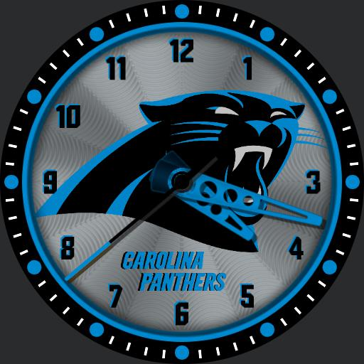 Sports Nfl Carolina Panthers Analogue Watchfaces For Smart Watches