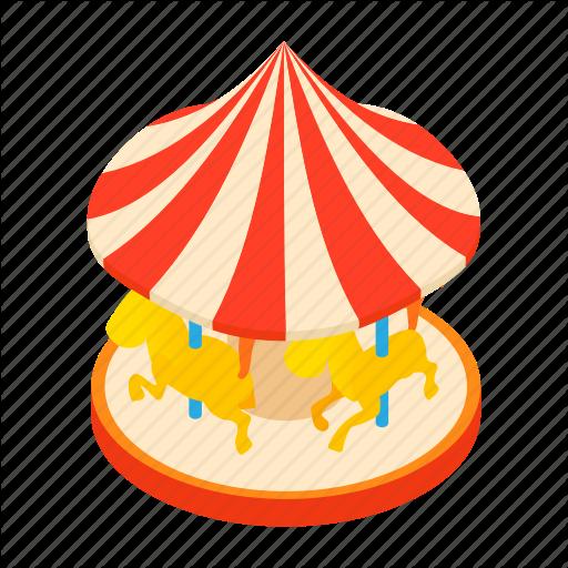 Balance, Carousel, Cartoon, Childhood, Fun, Horses, Park Icon