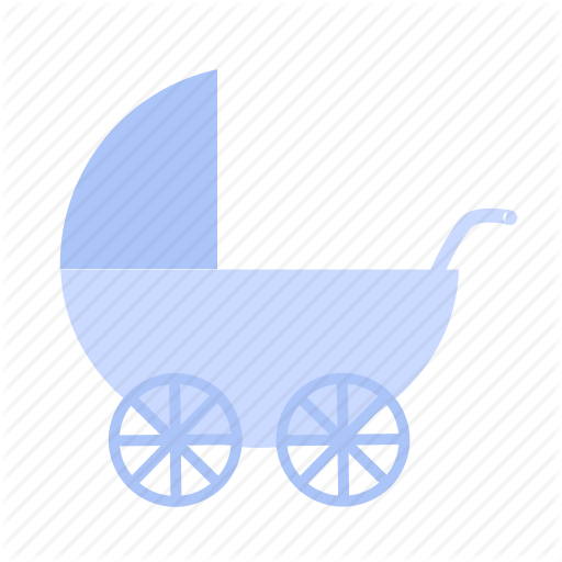 Baby, Baby Car, Baby Carriage, Blue, Buggy, Pram, Stroller Icon