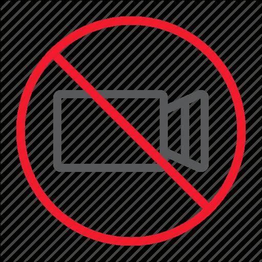 Ban, Camera, Forbidden, No, Prohibition, Stop, Video Icon
