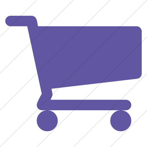 Simple Purple Bootstrap Font Awesome Shopping Cart Icon