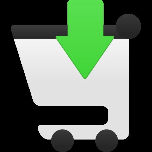 Shopping Cart Insert Icon Flatastic Iconset Custom Icon Design
