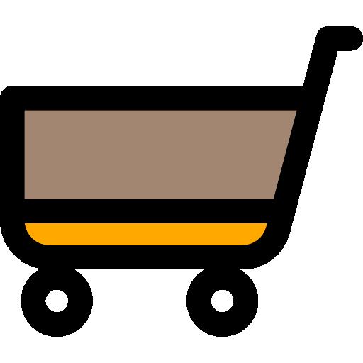 Market Flat Black Icon